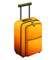 An orange baggage vector