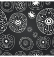 Chalkboard seamless floral pattern vector