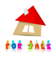 House for sale paper icon isolated on white vector