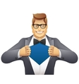 Businessman superman vector