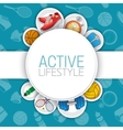 Active healthy lifestyle background vector