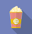 Icon of popcorn flat style vector