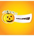 Halloween with pumpkin vector