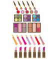 Set of decorative cosmetics vector