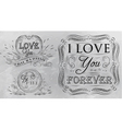 Love forever chalk grey vector