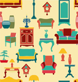 Vintage style home living furniture vector