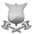 Axes and shields vector