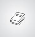 Book outline symbol dark on white background logo vector