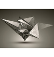 Deformed dimensional sharp grayscale object 3d vector