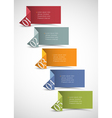 Origami paper numbered banners vector