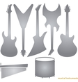 Music instruments silhouettes vector
