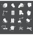 Welder icons set vector
