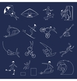 Extreme sports icons outline vector