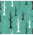 Bare autumn trees seamless pattern vector