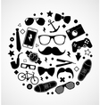 Set of fashionable mens accessories vector