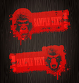 Banners with animal heads vector