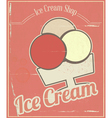 Ice cream card vector