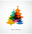 Christmas trees - colorful background vector