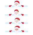 Santa claus behind page vector