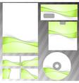Green fresh eco swoosh stationery set vector