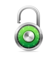 Opened lock security concept padlock vector