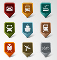 Colorful set web pointers for transport vector