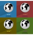 Color set world map web icon flat design vector