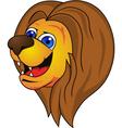 Lion head cartoon vector
