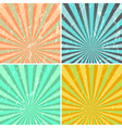 Grunge sunburst background vector