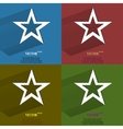 Color set star web icon flat design vector