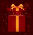 Magic light gift box vector