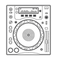 Outline dj cd player vector