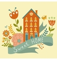 Home sweet home concept with house ribbon and vector