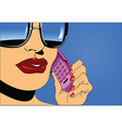 Telephone conversation vector