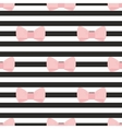 Seamless pastel pink bows black white background vector