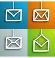 Mail envelopes set vector