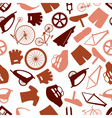 Cycling icon color pattern eps10 vector