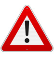 Isolated alert triangle sign vector