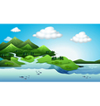 Land and water resources vector