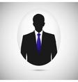 Male person silhouette profile picture whith blue vector