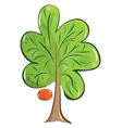 Green fruit tree vector