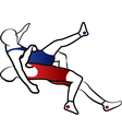 Wrestling suplay throw vector