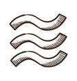 Waves wet symbol vector