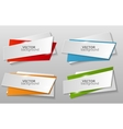 Collection of origami banners template vector