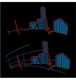 Ekg of city vector
