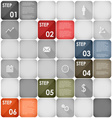 Squares design element steps template vector