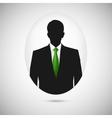 Male person silhouette profile picture whith green vector
