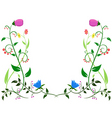 Flower leaf ornament vector