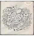 Brazil summer 2014 and doodles elements vector