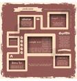 Retro style web design vector